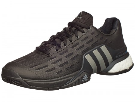 9bf7d738582a adidas Barricade 2016 BOOST Black Mens Shoe India