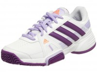 Adidas Junior Tennis Shoes India  Barricade Team 3 Running White / Tribe Purple / Glow Orange