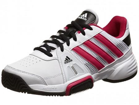 adidas Barricade Team 3 White Pink Junior Shoe 0df0b14d0