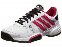 adidas Barricade Team 3 White/Pink Junior Shoe