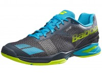 Babolat Jet AC Grey-Blue-Yellow Mens Shoes India