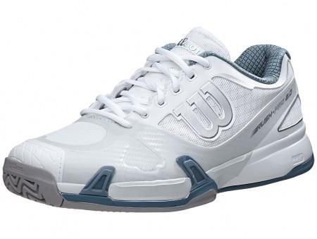 Wilson Rush Pro 2.0 White-Grey-Blue Mens Shoes India