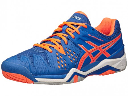 Asics Gel Resolution 6 India Blue/Orange Men's Shoes