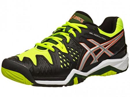 0f0cbe73d5 Asics Gel Resolution 6 Onyx/Yellow Men's Shoes India