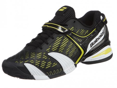 Babolat Propulse 4 Black/Yellow - Clay Court Tennis Shoes