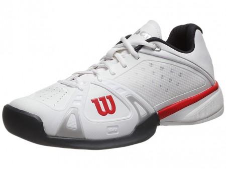 206fe21d31a242 Wilson Tennis Shoes India - Wilson Rush Pro White/Red/Coal Men's ...