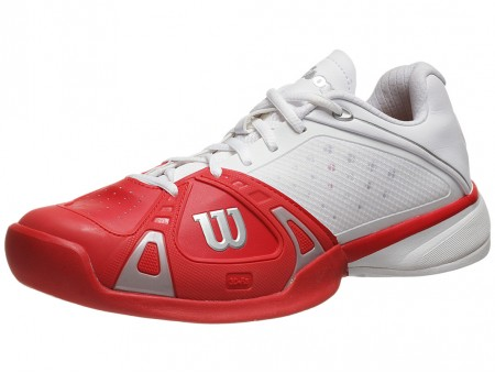 Wilson Rush Pro Red/White/Silver Men's Tennis Shoe