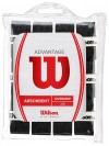 Wilson Advantage Overgrip India 12-Pack Black